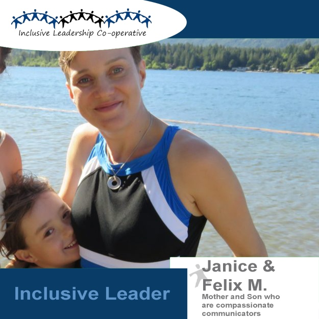 """Empathy and non-judgement starts with ourselves."" (Janice and Felix M, A mother and son who are strong and gentle compassionate communicators)"